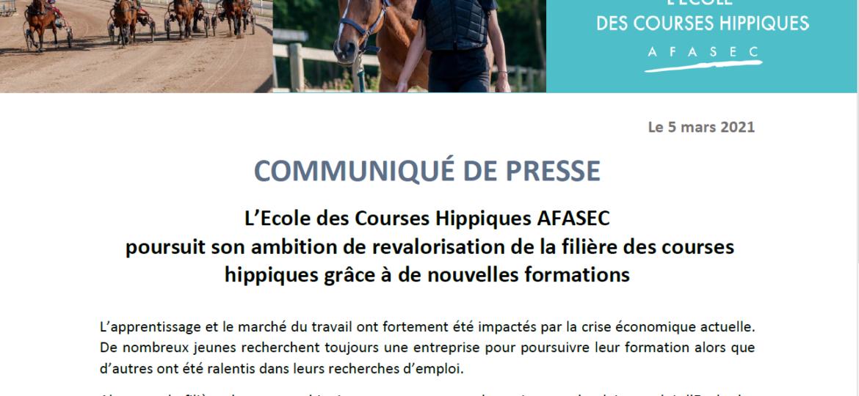 AFASEC - CP Nouveau programme de formation adulte 2021